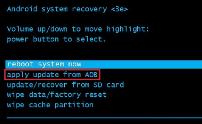 Apply Update ADB