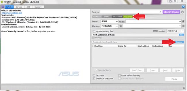 Flash ASUS X014D Via UFI