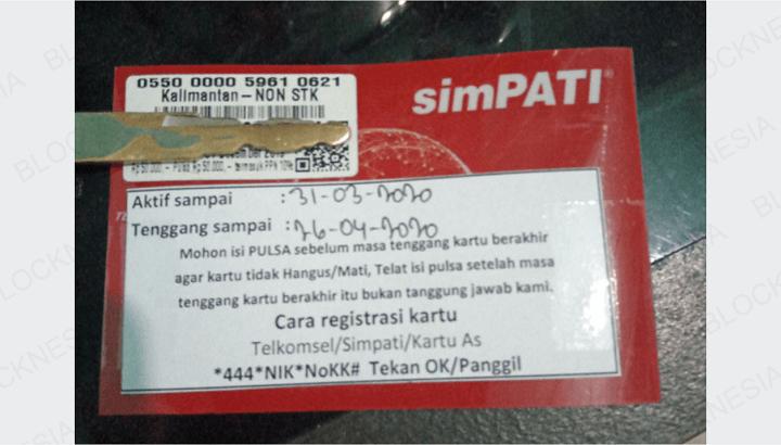 Nomor HP 0822 Ternyata Dari Kartu Operator Telkomsel Indonesia