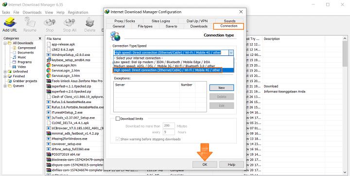 Mengoptimalkan Kecepatan Download pada IDM