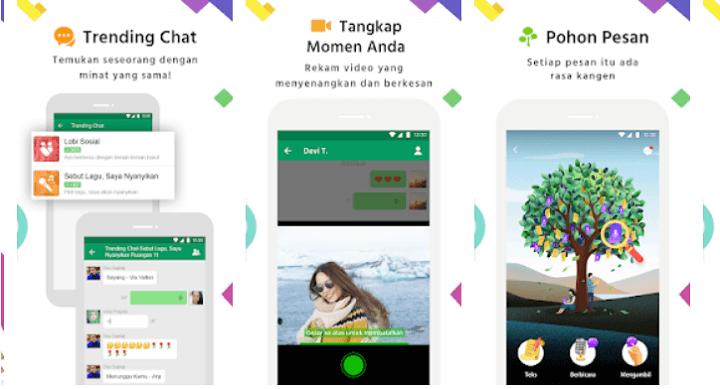 Aplikasi MiChat VCS Online Tante