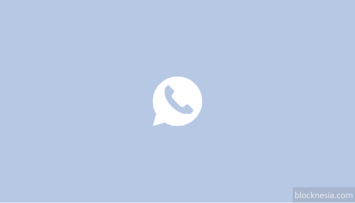WhatsApp Baru Warna Biru