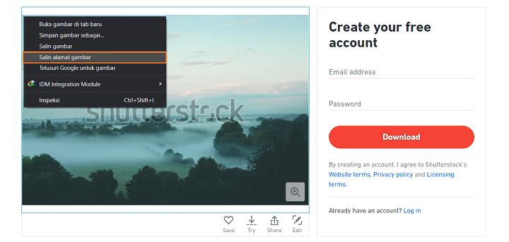 Cara Download Foto dan Vector Gratis dari Shutterstock