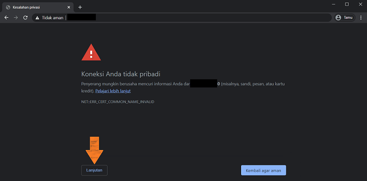 Memperbaiki Muncul Secure Connection Failed di Google Chrome