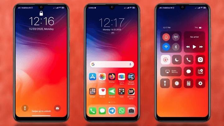 Tema HP Xiaomi Tampilan iOS iPhone