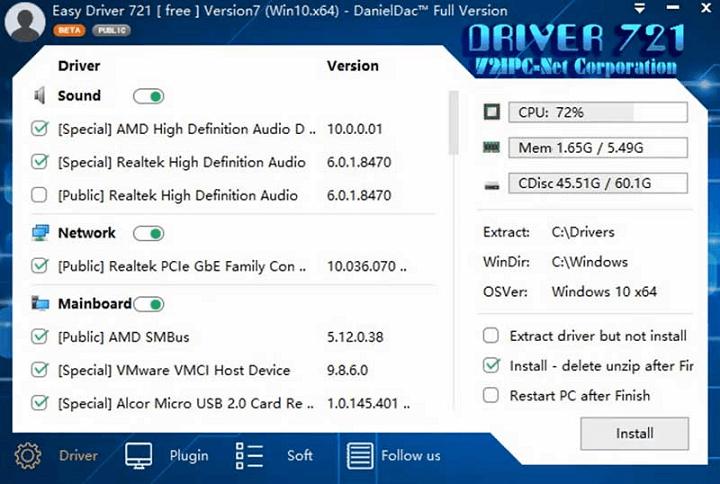 WanDrv Easy Driver Pack Terbaru untuk Windows 7 dan 10