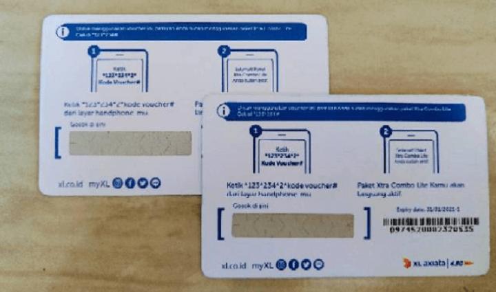 Letak Kode Voucher Perdana Kartu XL Axiata
