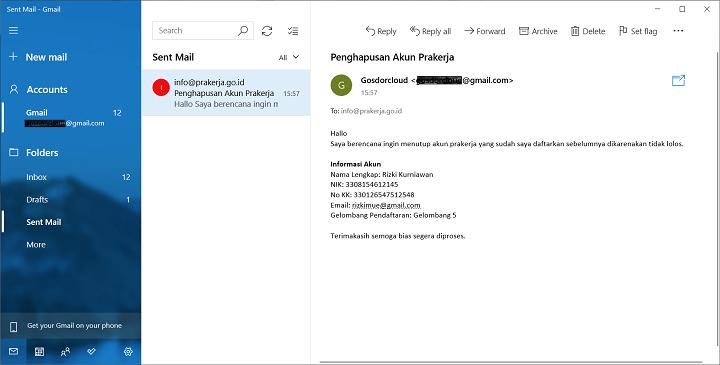 Mengirimkan Data Akun Yang Sebelumnya Sudah Terdaftar
