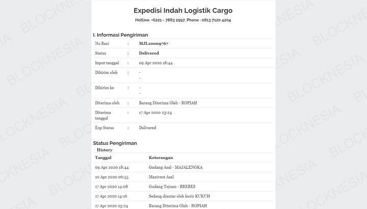 Resi Yatama Cargo