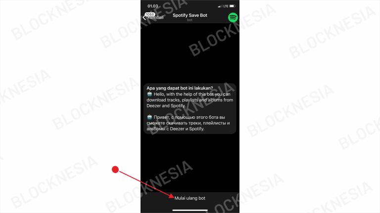 Cara Download Musik di Telegram Android