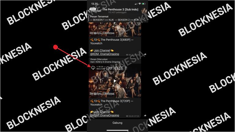 Mendownload Drakor di Telegram iPhone